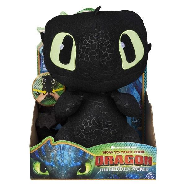 Spin Master 6045117 (20103548) - DreamWorks - Dragons - Plüschfigur mit Sound - Ohnezahn/Toothless