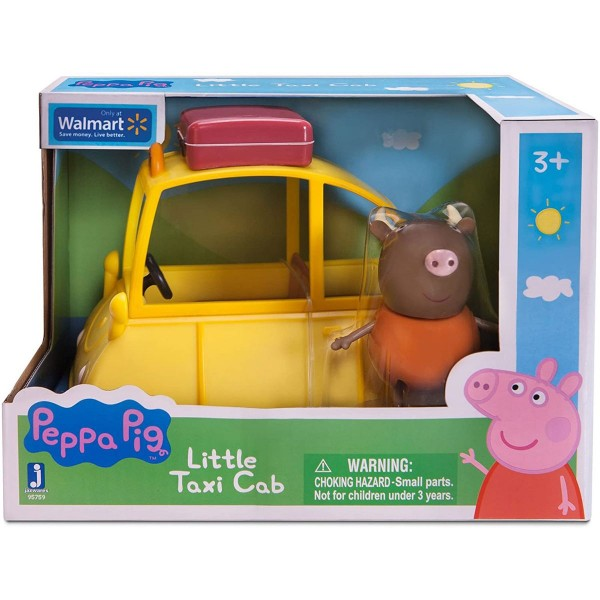 Jazwares 95759 - Peppa Pig - Spielset mit Figur, Kleines Taxi