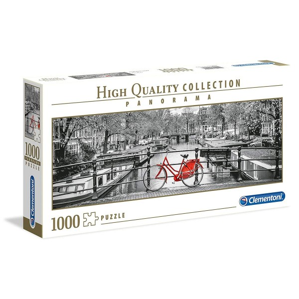 Clementoni 39440 - High Quality Collection - Amsterdam Bicycle, Puzzle, 1000 Teile