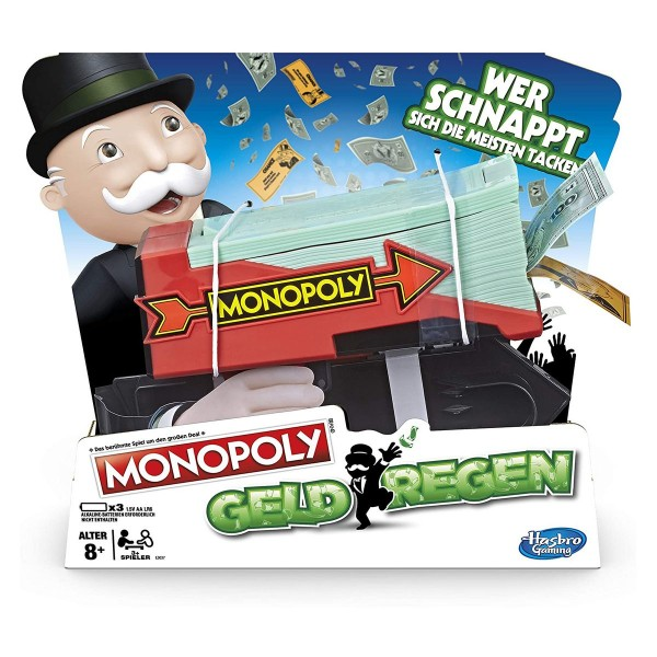 Hasbro E3037 - Monopoly - Gesellschaftsspiel, Geldregen