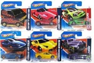SPAR-SET 176891 sort. - Mattel - Hot Wheels - 12 verschiedene Autos (5785), 1:64