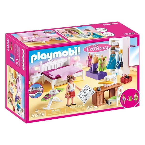 PLAYMOBIL® 70208 - Dollhouse - Schlafzimmer mit Nähecke