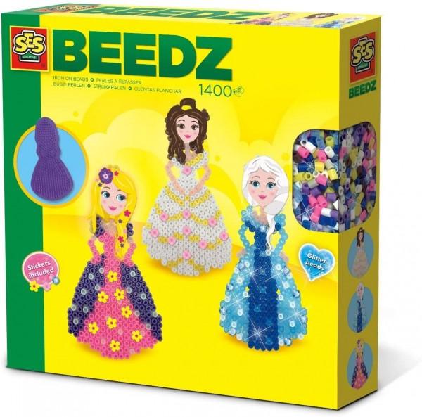 SES 06268 - Beedz - Bügelperlenset Prinzessinnen, Glitzer