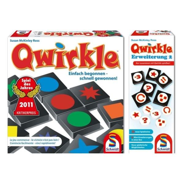 Schmidt 49361 - Geselllschaftsspiel, Qwirkle + Erweiterung 2