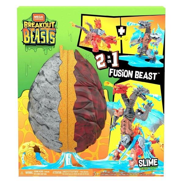 Mattel GGJ66 - Mega Construx - Breakout Beasts - Schleimspielzeug im Ei, 2-in-1 Fusion Beast