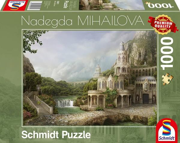 Schmidt 59611 - Premium Quality - Nadegda Mihailova - Palais in den Bergen, 1000 Teile Puzzle