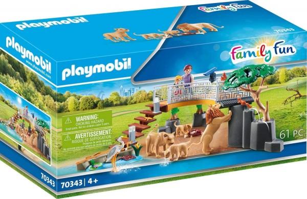 PLAYMOBIL® 70343 - Family Fun - Löwen im Freigehege
