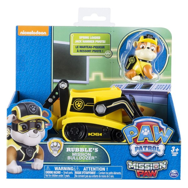 Spin Master 6031703 (20079031) - Paw Patrol - Mission Paw - Rubble's Mission Bulldozer