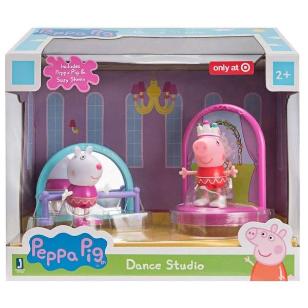 Jazwares PEP0404 - Peppa Pig - Tanzstudio mit 2 Figuren, Spielset