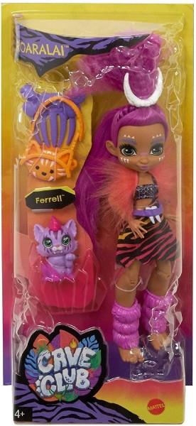 Mattel GNL84 - Cave Club - Uhrzeit Puppe, mit Zubehör, Roaralai