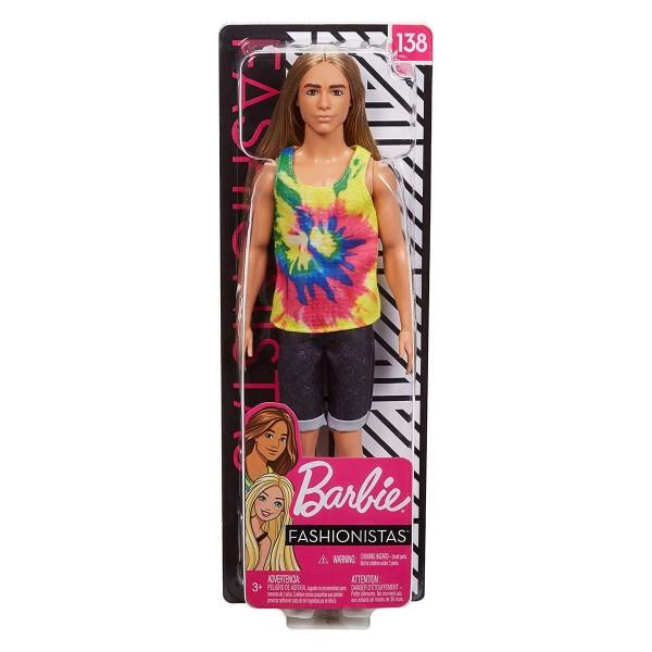 Mattel GHW66 - Barbie - Fashionistas - Ken mit langen blonden Haar