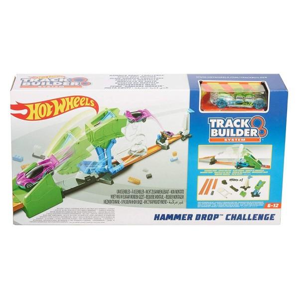 Mattel FLL01 - Hot Wheels - Track Builder - Piste für Autos, Hammer Drop Challange