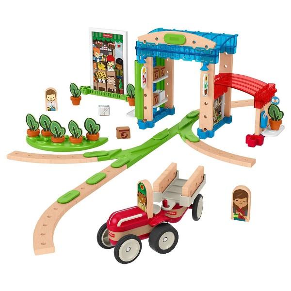 Mattel FXG14 - Fisher Price - wonder makers - Holzspielzeug, Kleine Stadt, 75 Teile