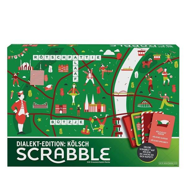 Mattel GGN23 - Mattel Games - Scrabble Dialekt Edition Kölsch, Gesellschaftsspiel