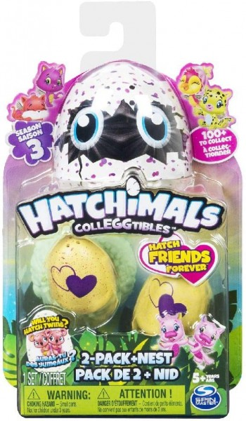 Spin Master 6041332 - Hatchimals - CollEGGtibles - Sammelfiguren im Ei 2-Pack mit Nest