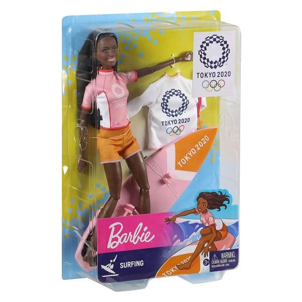 Mattel GJL76 - Barbie - Sport-Puppe, Surferin, Tokyo 2020