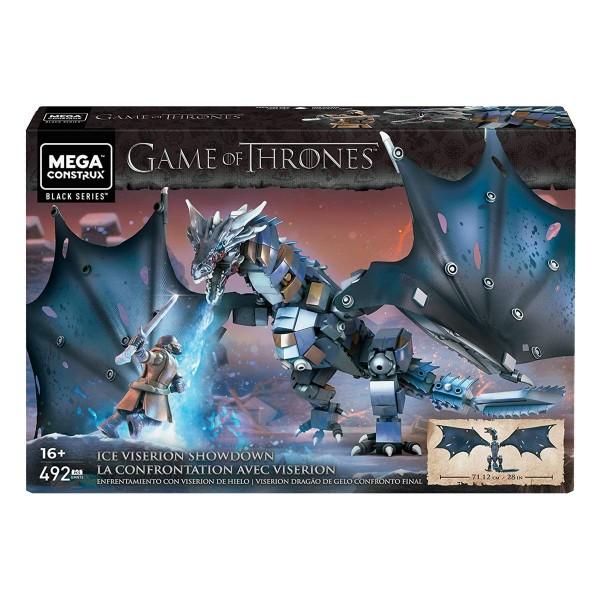 Mattel GMN74 - Mega Construx Black Series - Game of Thrones - Eis-Viserion Showdown, Konstruktionsse