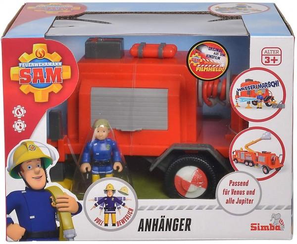 Simba 109251041 - Feuerwehrmann Sam - Anhänger mit Spielfigur