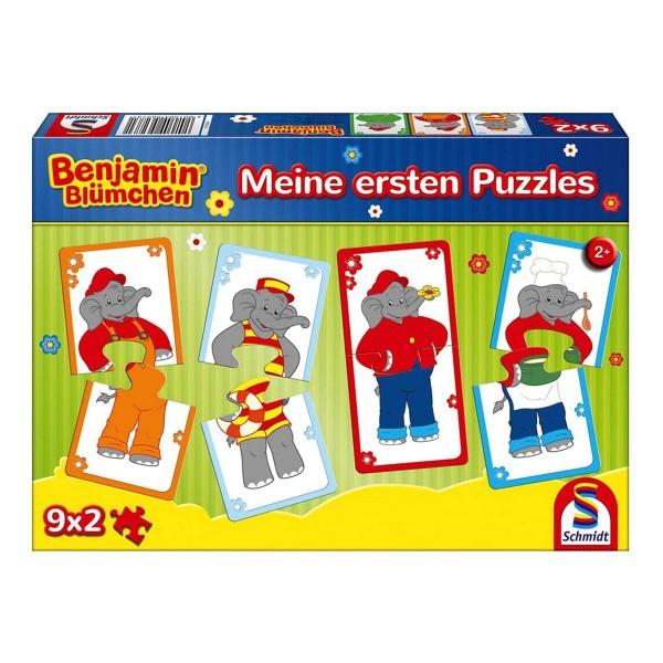 Schmidt 56273 - Benjamin Blümchen - Meine ersten Puzzle, 9 x 2 Teile