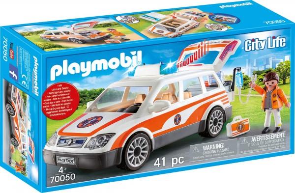 PLAYMOBIL® 70050 - City Life - Notarzt-PKW mit Licht und Sound