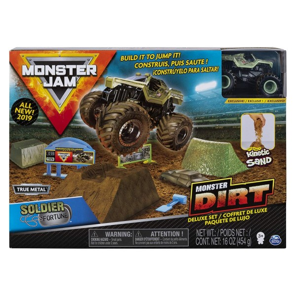 Spin Master 6044986 (20103747) - Monster Jam - Monster Dirt Deluxe Set, mit True Metal Monstertruck