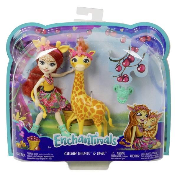 Mattel FKY74 - Enchantimals - Puppe mit Giraffe, Gillian