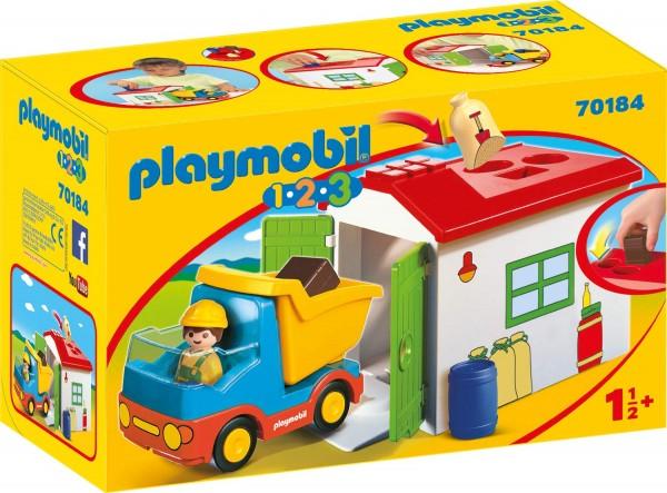 PLAYMOBIL® 70184 - 1•2•3 - LKW mit Sortiergarage