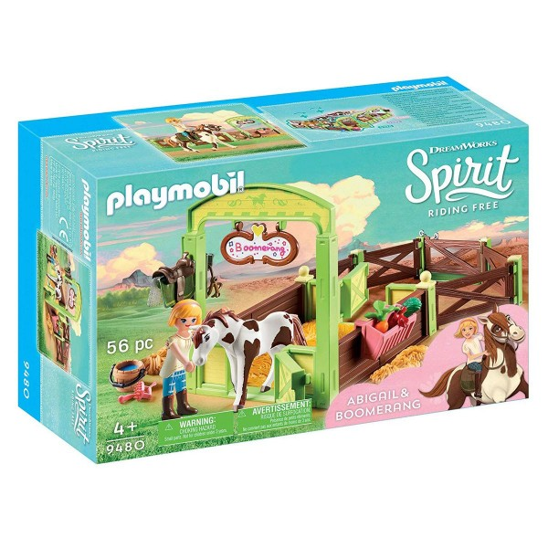 PLAYMOBIL® 9480 - Dreamworks Spirit - Pferdebox Abigail & Boomerang