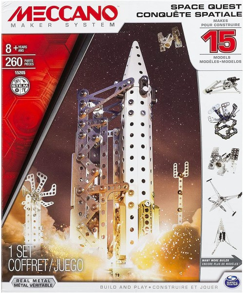 Spin Master 6026302 2.Wahl - Meccano - Bausatz, Weltraumbahnhof