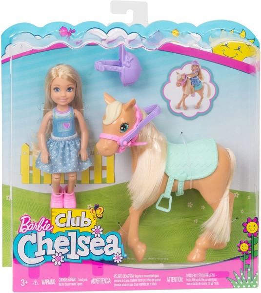 Mattel DYL42 - Barbie - Spielset, Chelsea mit Pferd