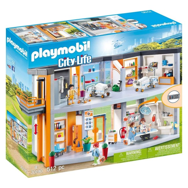 PLAYMOBIL® 70190 - City Life - Großes Krankenhaus mit Einrichtung