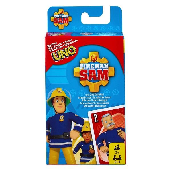 Mattel FMW18 - Feuerwehmann Sam - Kartenspiel, Uno Junior