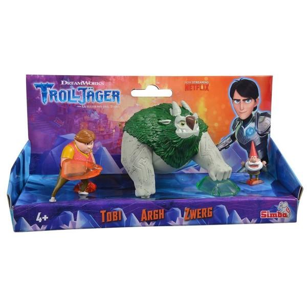 Simba 109211001 - DreamWorks Trolljäger - 3er Figurenset, Toby, Argh, Gnome