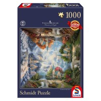 Schmidt 59295 - Premium Quality - Thomas Kinkade - Die Kirche in den Bergen, 1000 Teile Puzzle