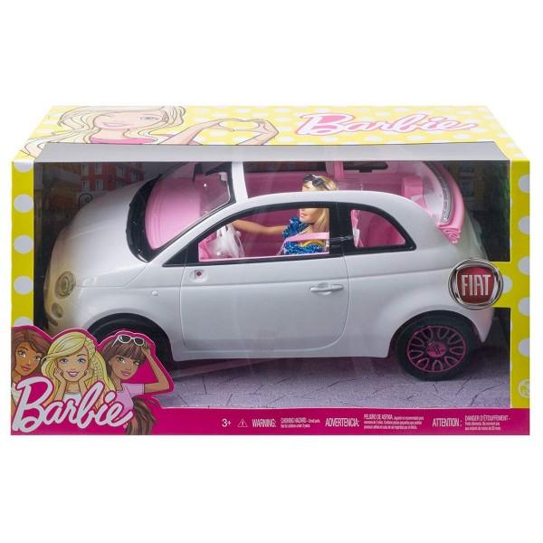 Mattel FVR07 - Barbie - Puppe mit Auto, weiß, Fiat 500