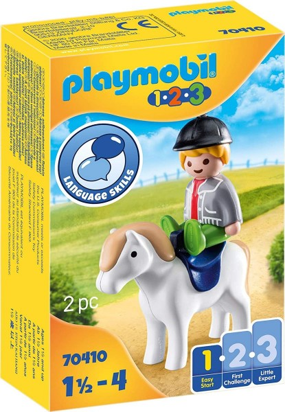 PLAYMOBIL® 70410 - 1•2•3 - Junge mit Pony