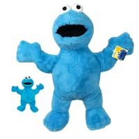 SPAR-SET 180355 - Sesamstraße - Krümelmonster-Set, 2 Plüschfiguren Cookie Monster, Blau
