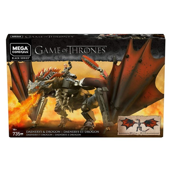Mattel GKG97 - Mega Construx - Game of Thrones - Bauset, Deanerys & Drogon