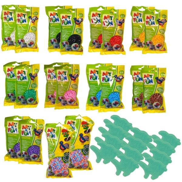 SPAR-SET 182872 - Simba - Art & Fun - 24.000 Bügelperlen, XXL-Set/Refill in 9 Farben, 12 Stift-/Moti