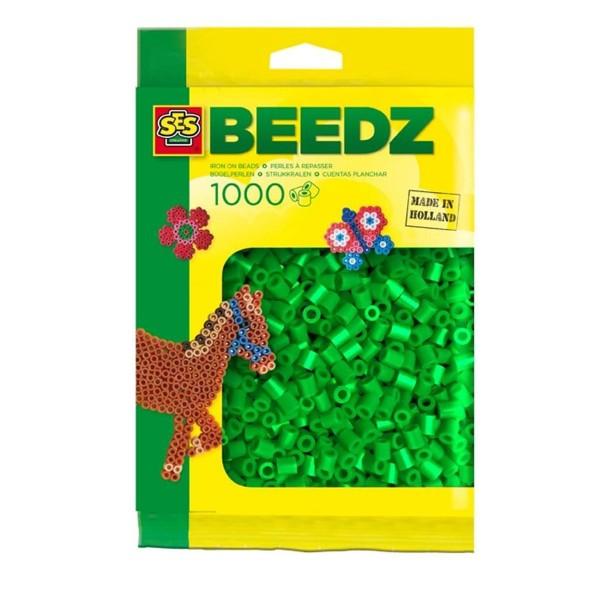SES 00703 - Bügelperlen 1000 Stück, grün