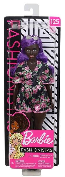 Mattel FXL58 2.Wahl - Barbie Fashionistas - Puppe im Blumenoutfit mit lila Haaren