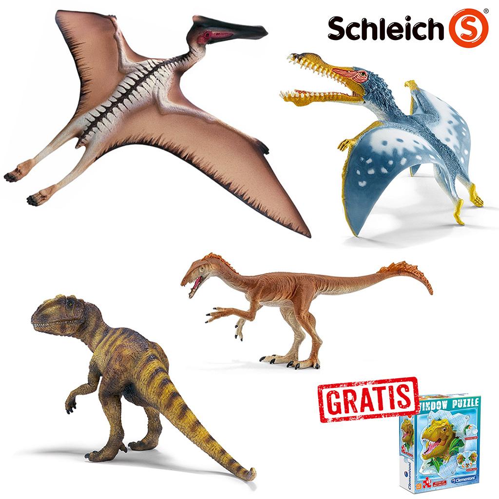 Spar Set 169754 Schleich Dinosaurs Urzeit Set Mit 4 Dinosauriern Gratis Dino Fenster Puzzle