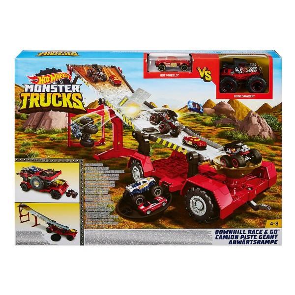 Mattel GFR15 2.Wahl - Hot Wheels - Monster Truck, Abwärtsrampe mit Fahrrzeugen