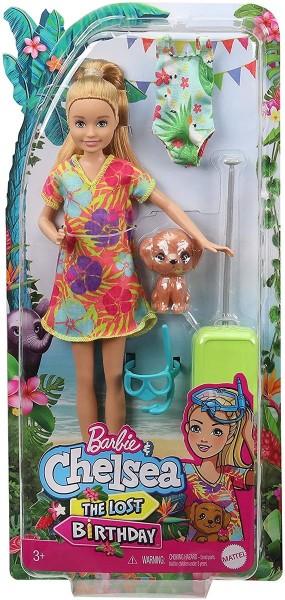 Mattel GRT89 - Barbie - Chelsea - the Lost Birthday - Puppe mit Zubehör, Dschungelabenteuer