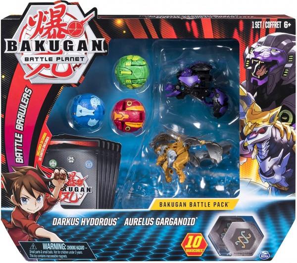 Spin Master 6054981 (20120703) - Bakugan Battle Planet - 5-Pack, Darkus Hydorous & Aureus Garganoid;