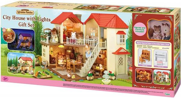 Epoch 2747 2.Wahl - Sylvanian Families - Geschenk-Set - Stadthaus mit Licht, Luna & Sissi Figuren