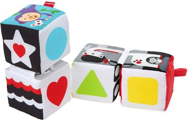 Mattel GFC37 - Fisher Price - Babyspielzeug, weiche Wendewürfel