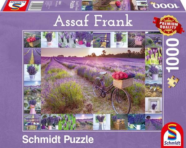 Schmidt 59634 - Premium Quality - Assaf Frank - Der Duft des Lavendels, 1000 Teile Puzzle