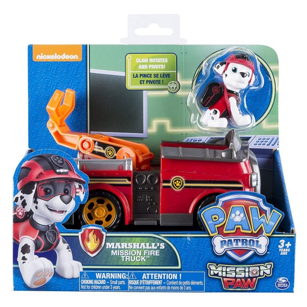 Spin Master 6031703 (20079027) - Paw Patrol - Mission Paw - Marshall's Mission Fire Truck, Feuerwehr