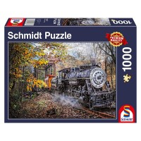 Schmidt 58377 - Premium Quality - Faszination Eisenbahn, 1000 Teile Puzzle